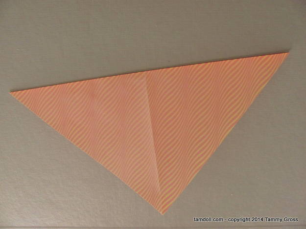 folded paper, wrong-side up