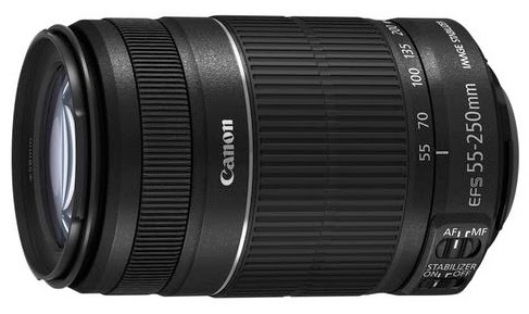 Canon EF-S 55-250mm f/4.5-5.6 IS II zoom lens