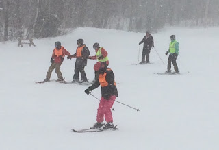 Downhill skiing at Winterl Sports Education Camp 2016