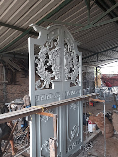 Proses Pembuatan, Pintu, Pagar, Besi, Tempa, Rumah, Mewah, Klasik