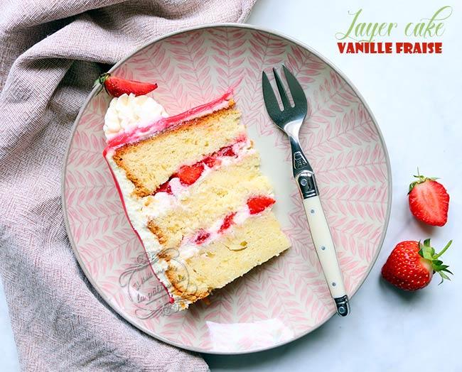 tuto layer cake fraise