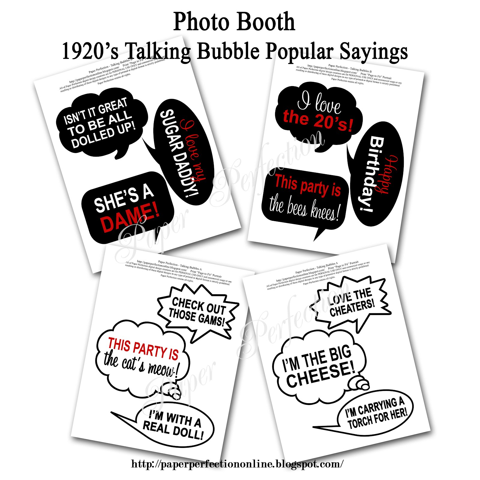 picture regarding Photo Booth Sign Printable titled Paper Perfection: Printable Picture Booth Symptoms and Props
