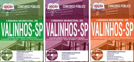 Apostila concurso Câmara de Valinhos SP 2017