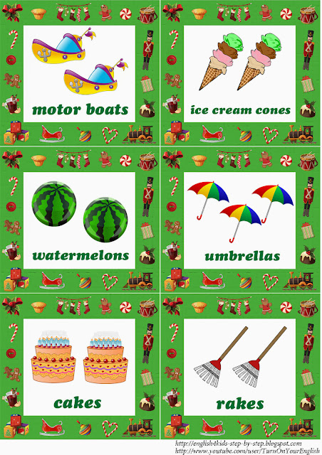 christmas flashcards for teaching english