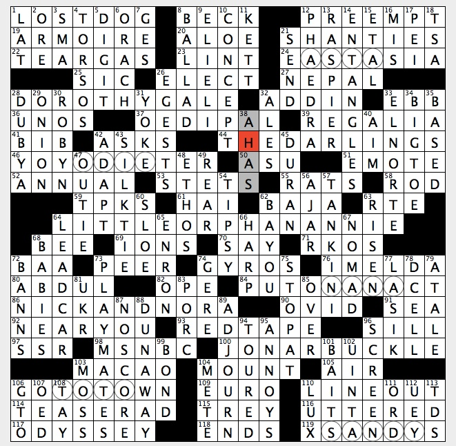 Rex Parker Nyt Crossword Puzzle Theme Song Milton Berle Call