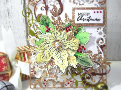 Golden glittery poinsettia ... ~ Louise Sims Papercrafter