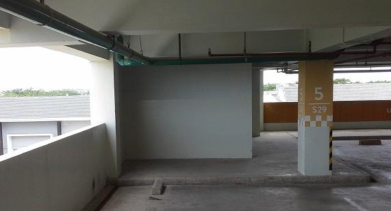 Contoh Plafond Beton Expose Area Parkir
