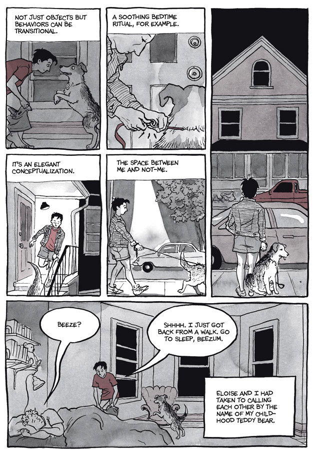 Page 20, Chapter 2: Transitional Objects from Alison Bechdel's graphic novel Are You My Mother