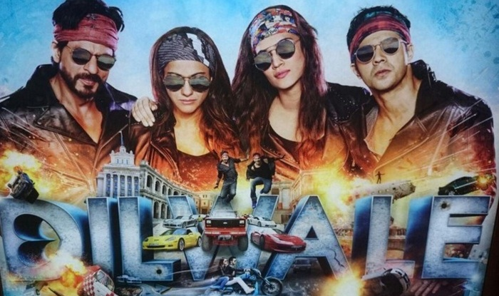 Shah Rukh Khan, Kajol, Varun Dhawan, and Kriti Sanon 2015 Movie Dilwale is india, the film grossed a total of 30.12 Crores.