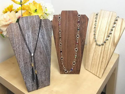 Shop Wholesale Wooden Jewelry Display Busts with Easel at NileCorp.com