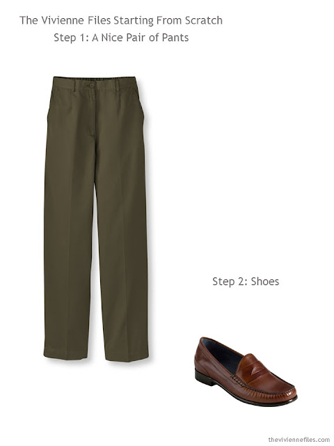 capsule wardrobe essentials - classic pants and shoes