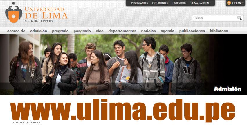 ULIMA: Admisión Universidad de Lima 2017 (Examen 5 Marzo) Inscripción - www.ulima.edu.pe