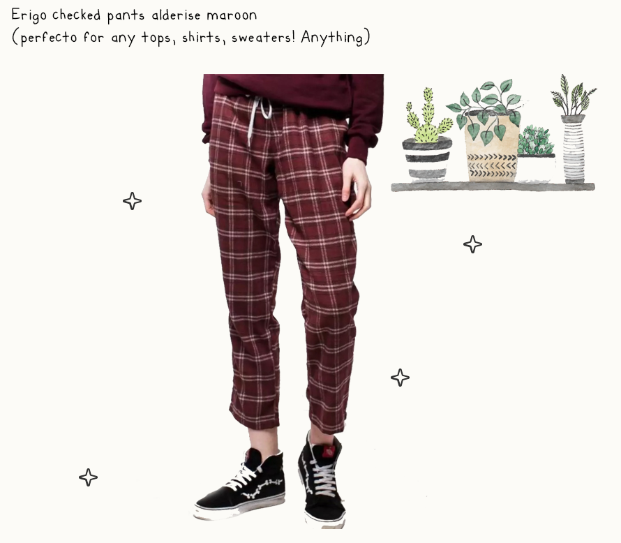 https://www.lazada.co.id/products/erigo-chekedpants-alderise-unisex-maroon-i188836905-s230343716.html?spm=a2o4j.searchlist.list.1.7c16111eq1WGa0&search=1