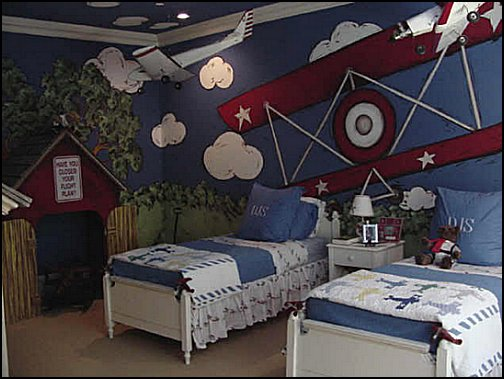 Airplane Bed Theme Bedroom Aviation Themed Ideas Murals