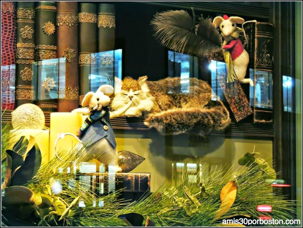 Escaparates de Navidad en Nueva York: Ratoncitos y Gato en el Macy´s