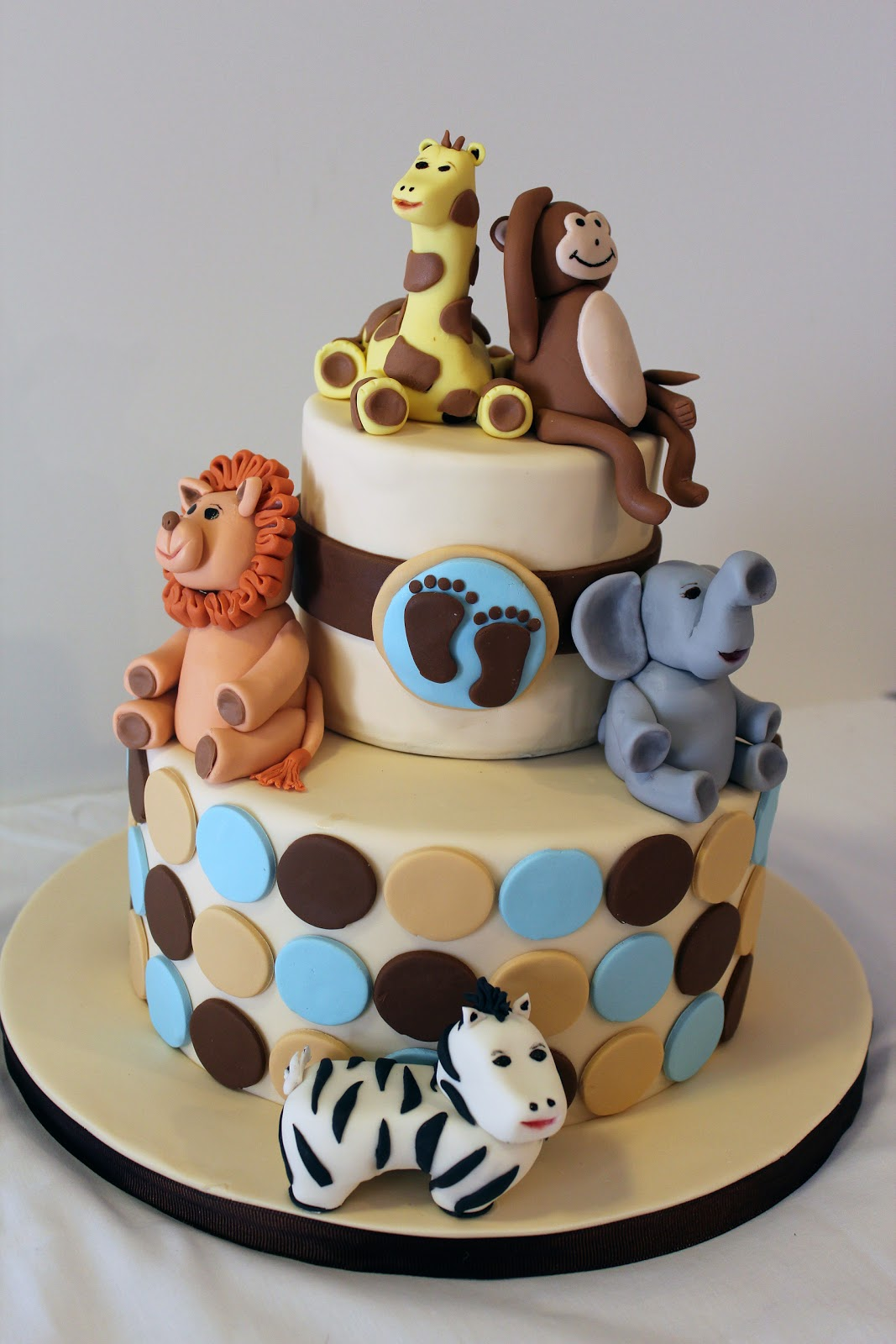 African Animal Cake Decorations