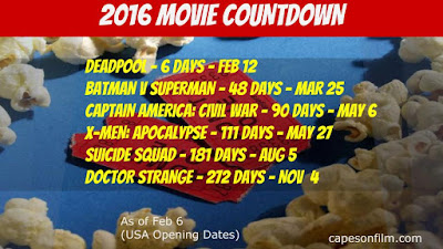 2016 movie countdown