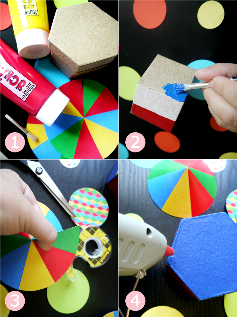 DIY Circus Tent Birthday Party Favor Boxes - BirdsParty.com
