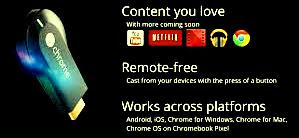 Google offers Internet TV by Chrome Cast - Google internet TV device