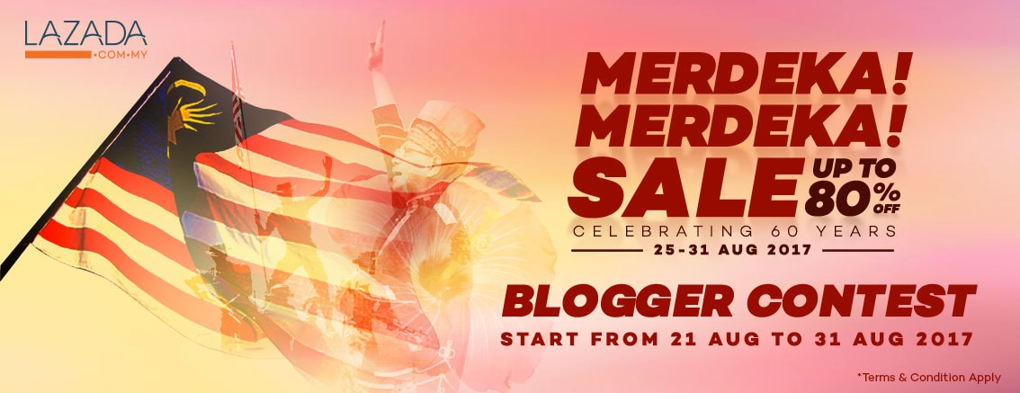 Lazada Merdeka! Merdeka! Blogger Contest
