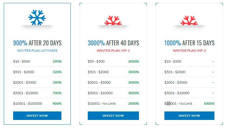 Инвестиционный план WinterIncome 1