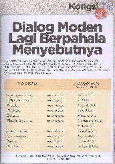 Dialog Moden : Biasakan Yang Sebetulnya