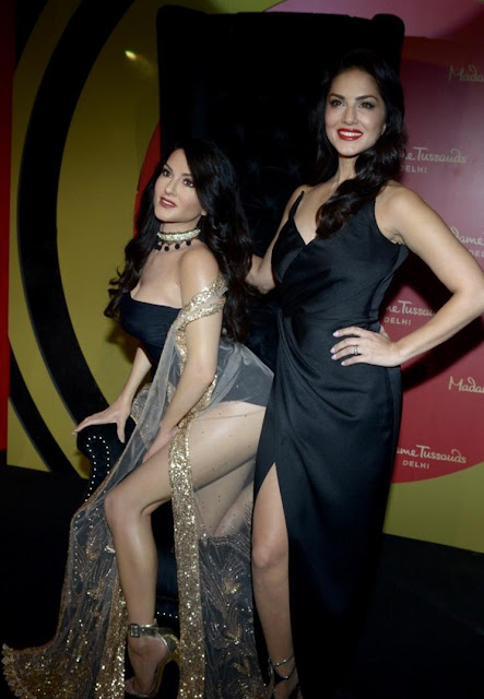 Sunny Leone wax statue at Madame Tussauds