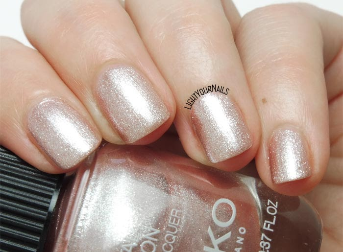 Smalto rosa antico metallizzato Kiko Metal Fusion 03 California Rose antique pink nail polish #KIKOnails #kikocosmetics #metallicnails #lightyournails