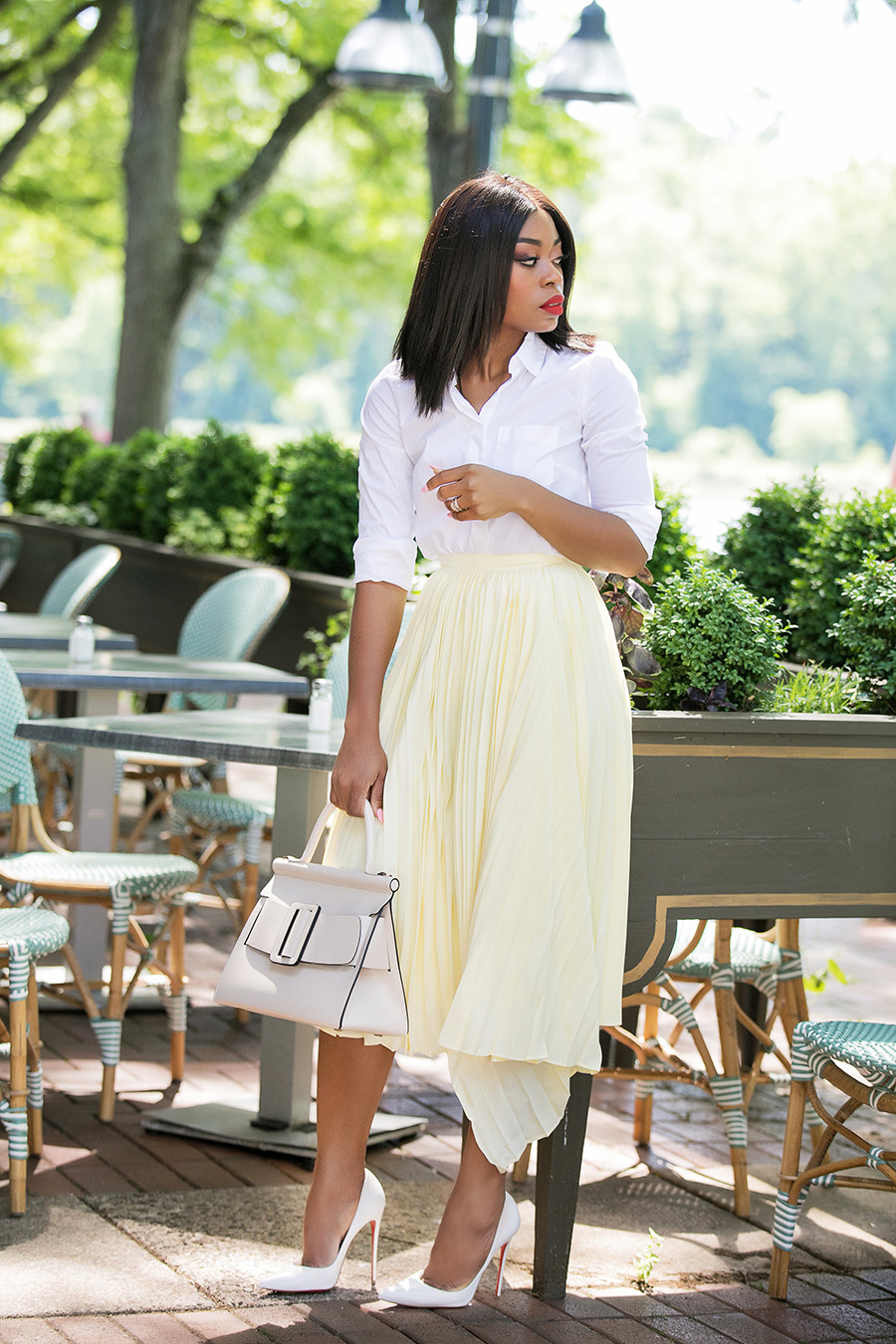 asymmetric pleated skirt, www.jadore-fashion.com