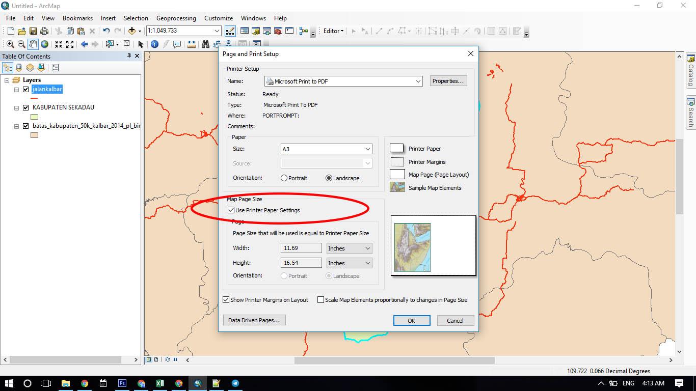 Ukuran kertas a4 dalam pixel (150 dpi) = 1240 x 1754 pixel Cara Mengatur Ukuran Halaman Pada Peta Dengan Arcmap Arcgis Liu Purnomo
