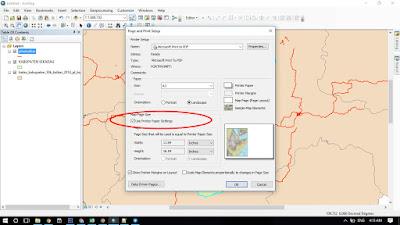 Cara Mengatur Ukuran Halaman Pada Peta Dengan ArcMap ArcGIS