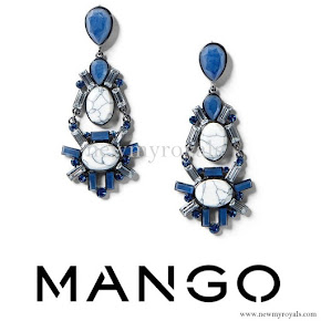 Queen Letizia wore MANGO Faceted Crystal Earring