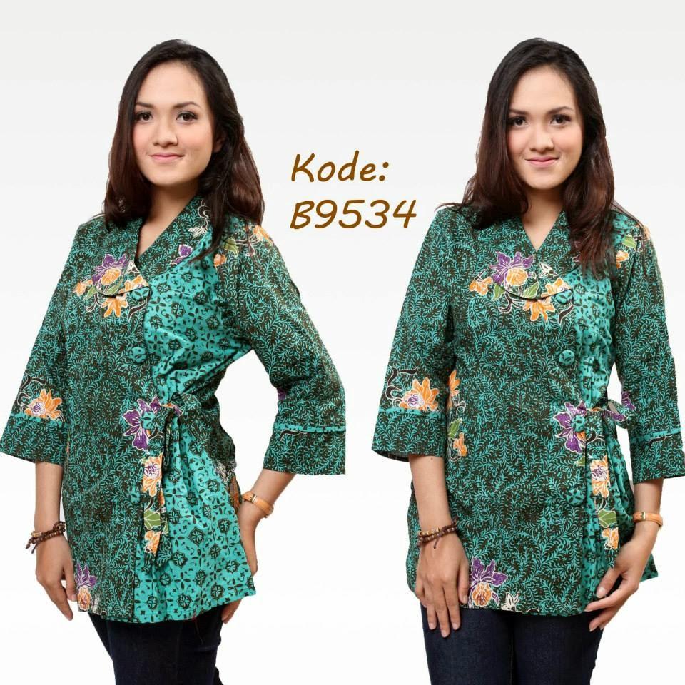 Kemeja Batik Mega Mendung Wanita: Glow's Shop: BLUS BATIK KANCING TALI SAMPING #RP. 107.000