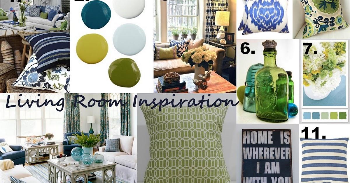 inspiring spacious living room green   La Vita DiBella: Living Room Inspiration