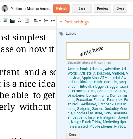 How To Add Labels To Blogger Posts