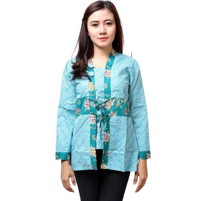 10 Model Baju Batik Kantor Wanita Terbaru Desain Kekinian