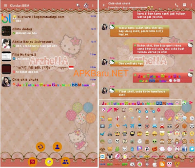 Screenshot tampilan daftar Dialog