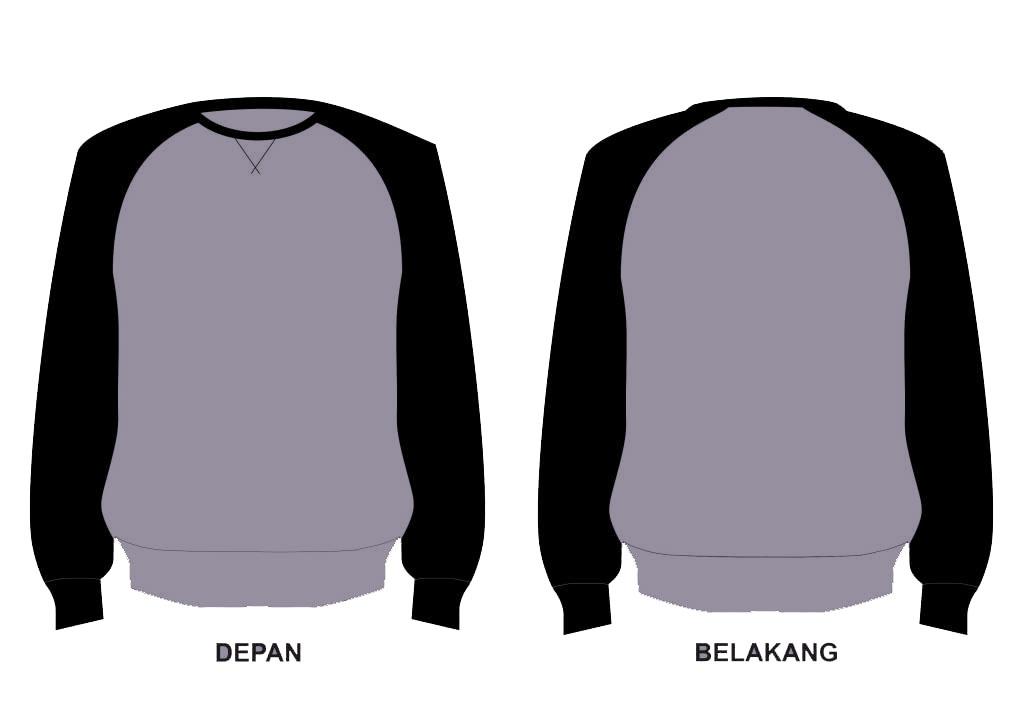 Download Desain Kaos Depan Belakang Polos