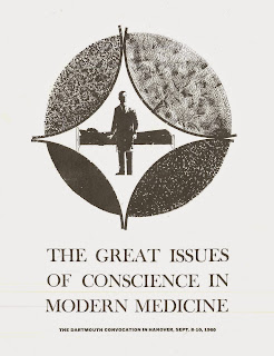 "A flyer for ""The Great Issues of Conscience in Modern Medicine."""