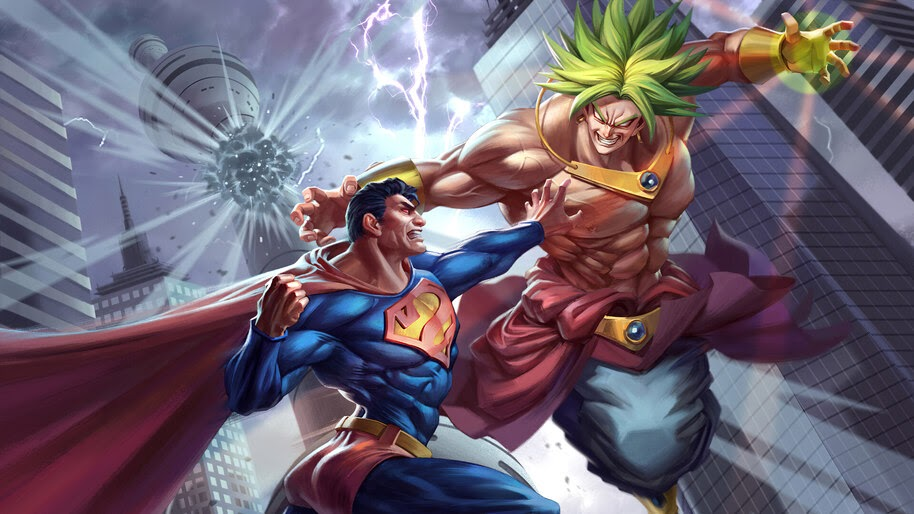 Superman vs. Broly, Anime, Comics, 4K, #6.1311