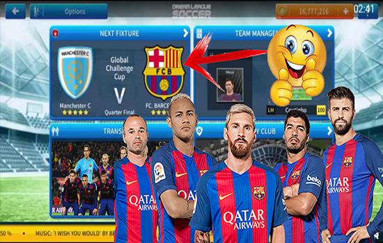اضافة فريق برشلونة كاملا الى لعبة دريم ليغ سوكر