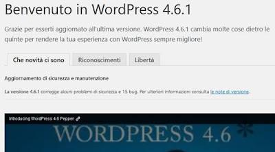 Wordpress aggiornato