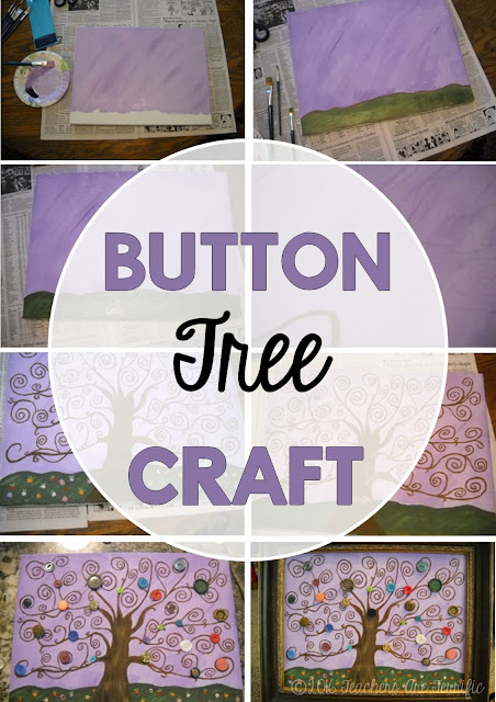 Craft for Keepsakes: Make this amazingly easy tree outline and then use old buttons to trim it. Beautiful way to use those old buttons from your grandmom or mom!