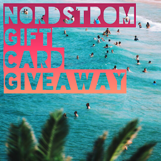 Enter the Nordstrom Insta Giveaway. Ends 8/18. Open WW