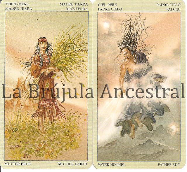 Madre Tierra - Padre Cielo del Tarot de los Nativos Americanos