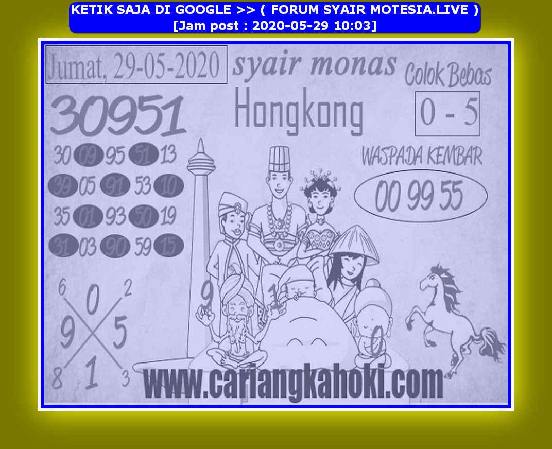 Kode syair Hongkong Jumat 29 Mei 2020 129