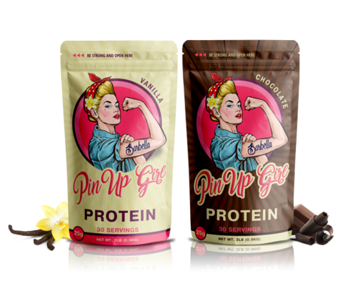 Pinup protein protein powder for strong women