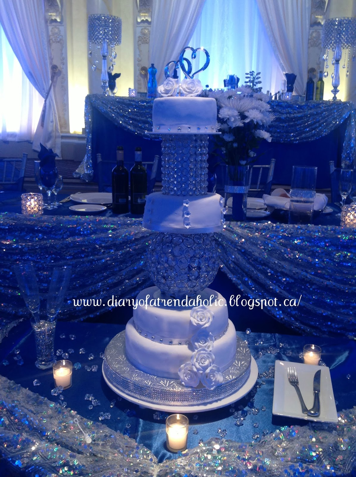 diary of a trendaholic blue and silver wedding. Black Bedroom Furniture Sets. Home Design Ideas