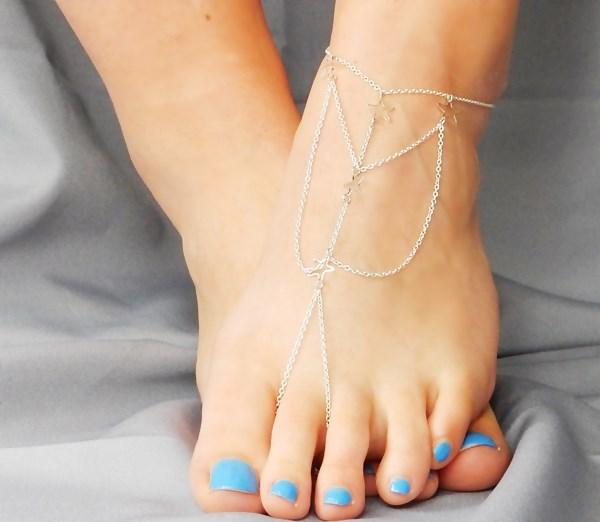 DIY :  bracelet de cheville (2)