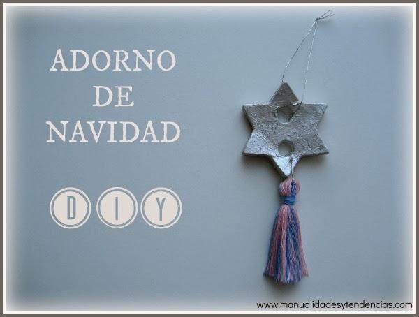 adorno de navidad con forma de estrella hecho a mano / Christmas ornament DIY / déco de Noël fait maison